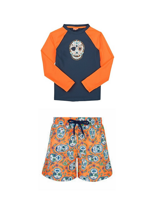 Skulls Rashguard & Trunks