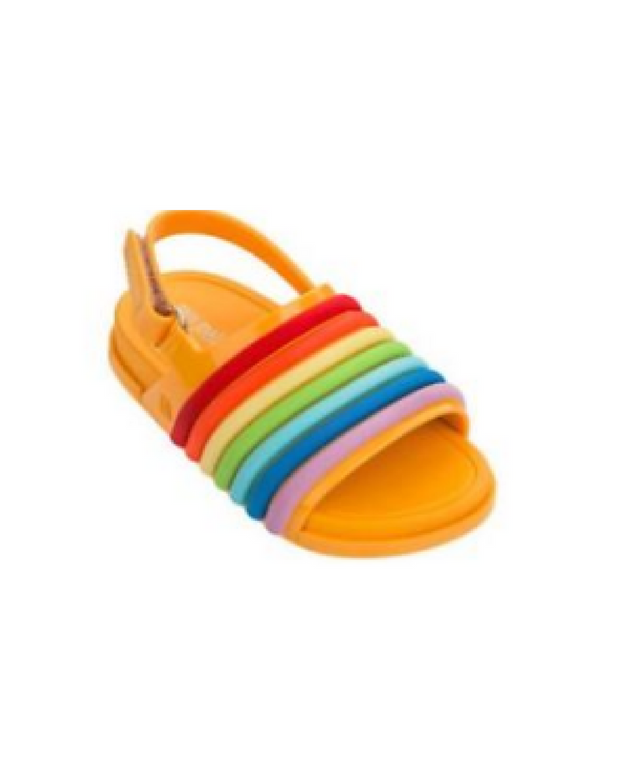 Shop Veo Veo Beach Slide Rainbow Sandal Mini Melissa