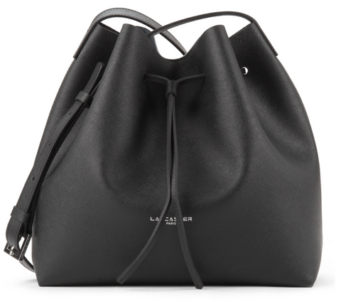 PUR SAFFIANO LARGE BUCKET BAG BLACK
