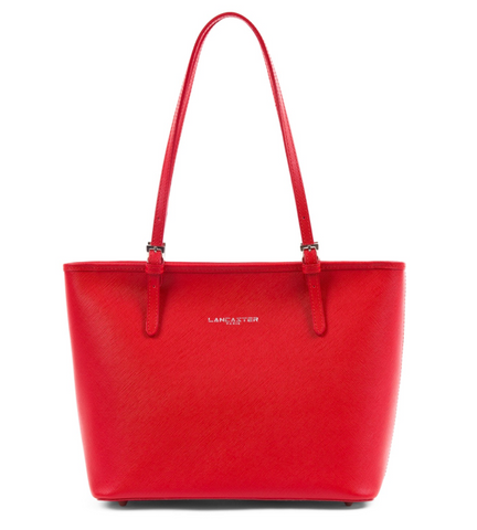 ADÈLE - SMALL ZIP TOTE BAG RED