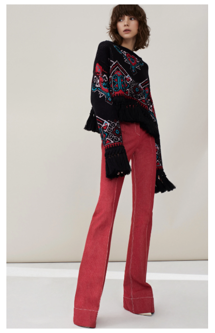 Philosophy di Lorenzo Serafini - Denim Red Colour Trousers