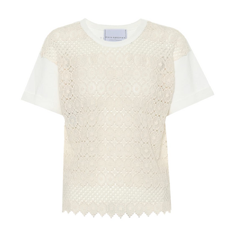 Philosophy Di Lorenzo Serafini - Crochet cotton top