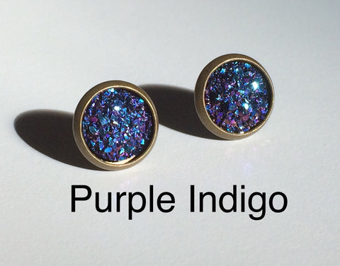 Earrings - Bling Purple Indigo