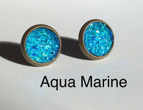 Earrings - Bling Aqua Marine