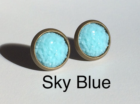Earrings - Bling Sky Blue