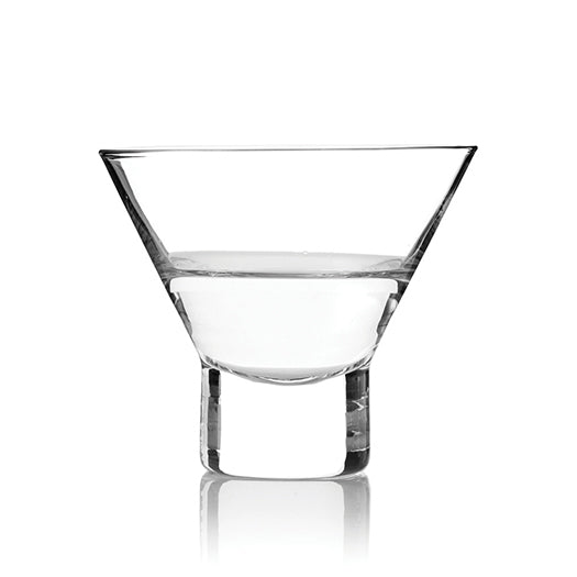 martini glass stemless engraved glass