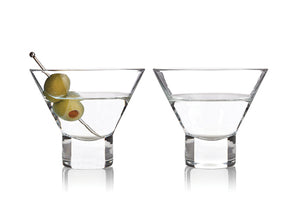 stemless martini glass engraved glass