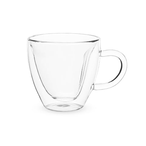 heart shape tea glass mug