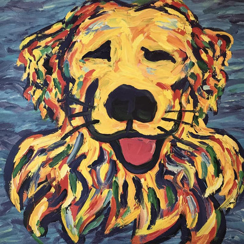 Yellow Dog® Fine Art Print: Golden Retriever Joy