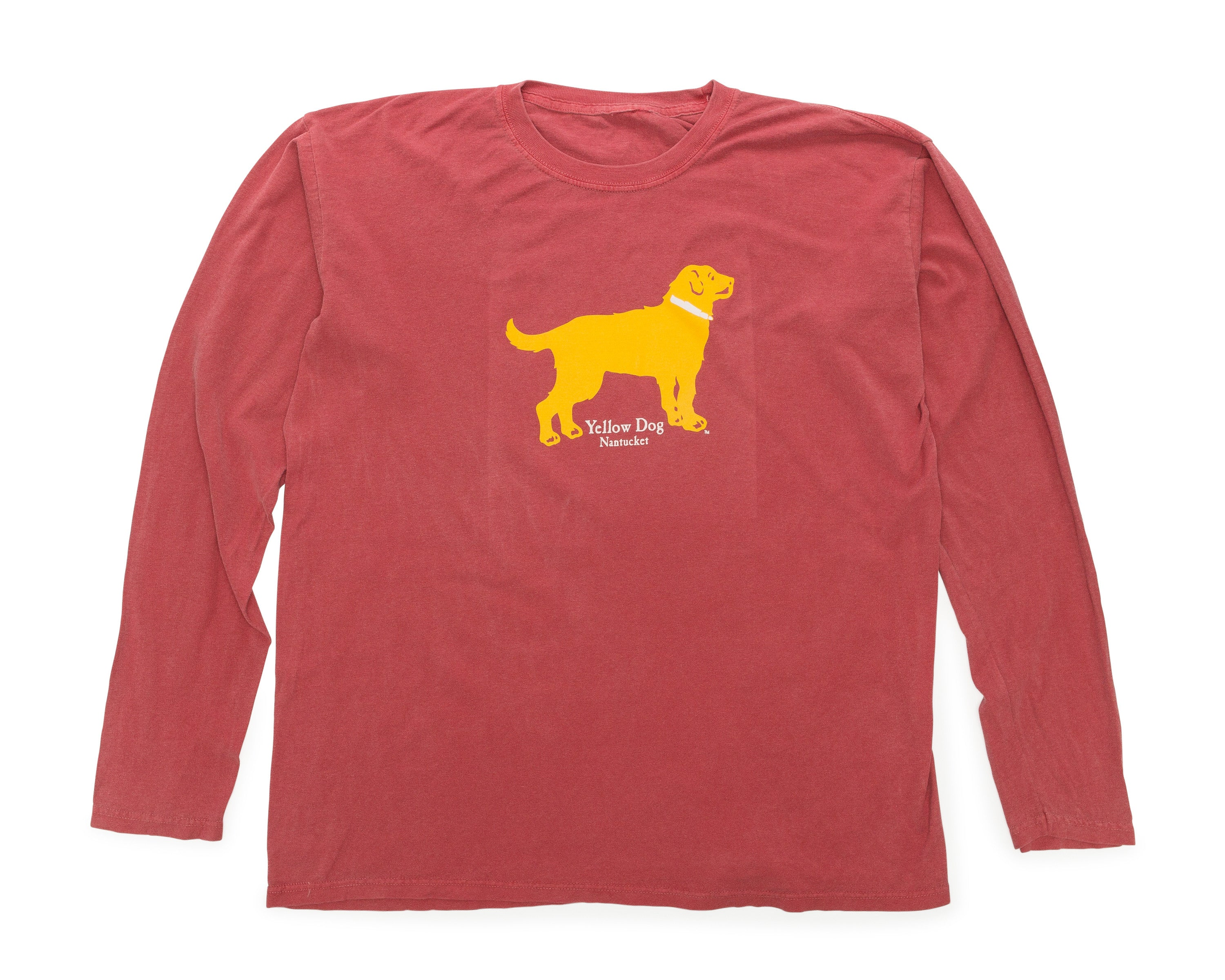 Yellow dog ladies fitted long sleeve t shirt nantucket red for Women s long sleeve fitted t shirts