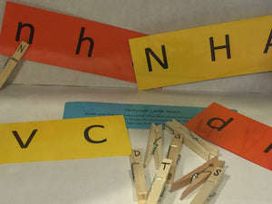 Clothespin Letter Match