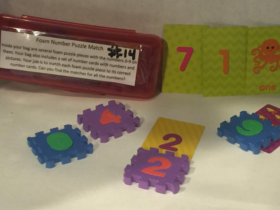 Foam Number Puzzle Match
