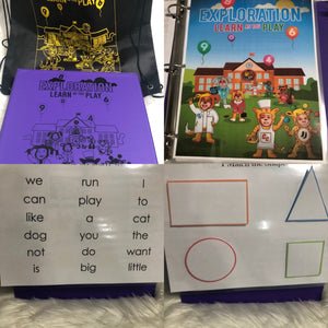 Exploration LEVEL UP Interactive Learning Binder (4 years old)