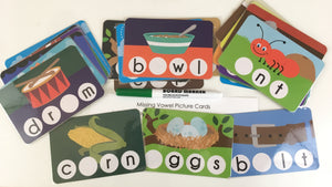 Missing Vowel Picture Cards