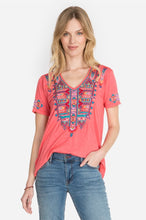Johnny Was Laurelle Relaxed T-Shirt Pink