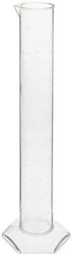 Vitlab Class A Certified Polymethylpentene Graduated Cylinder, 500ml Capacity