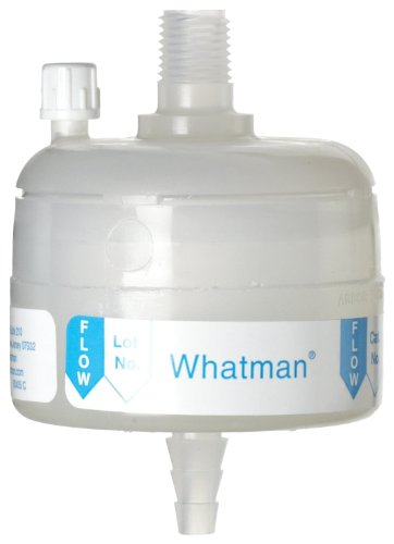 Whatman 6711-3604 Polycap TF 36 PTFE Membrane Capsule Filter with MNPT Inlet and SB Outlet, 60 psi Maximum Pressure, 0.45 Micron