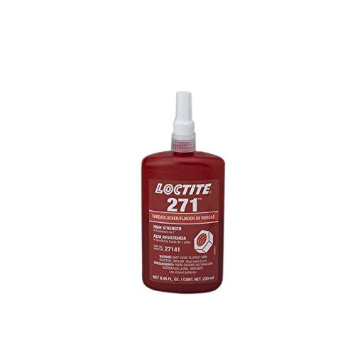 "Loctite HL88441 Red Liquid Threadlocker Bottle, High Strength for Fasteners Up to 1"", 250 mL, 8.45 oz."