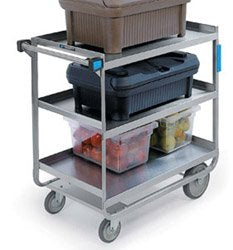 Heavy Duty Three Shelf U-Frame Utility Cart 22 3/8 x 38 5/8 x 37 1/8