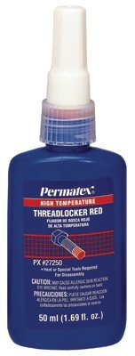 DEVCON - HIGH TEMPERATURE THREADLOCKER RED 50 ML BOTTLE - 230-27250