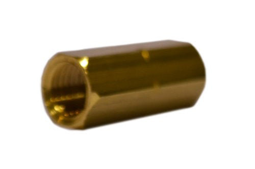 "Trico FC-1009M Brass Central Lubrication Straight Connector, M8 x 1.0 x M8 x 1.0"" Female"