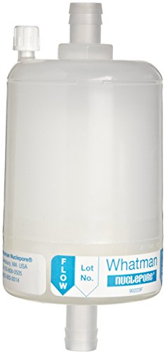 "Whatman 2710 Polycap HD 75 Polypropylene Capsule Filter with 1/2"" HB Inlet and Outlet, 60 psi Maximum Pressure, 0.45 Micron (Pack of 5)"