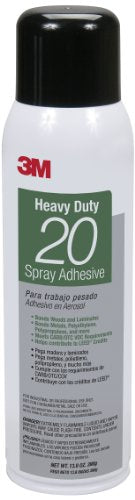 3M 20 Heavy Duty Spray Adhesive Clear, Net Weight 13.8-Ounce (Case of 12)
