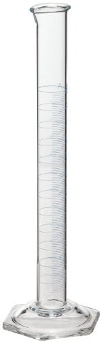 "Corning Pyrex 70022-100 Vista Glass Single Metric Scale Cylinder, 100 mL Capacity, ""To Contain"", Class A Graduated (case of 12)"