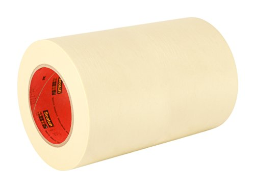 "3M 201+ 12"" x 60yd General Use Masking Tape - 12"" x 60 Yards Roll, Crepe Paper, Natural"
