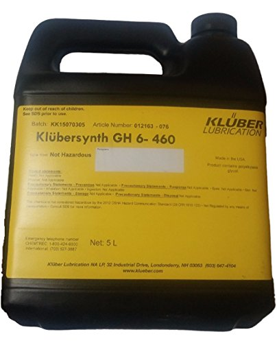 Klubersynth GH6-460 Synthetic High Temperature Gear Oil 5 Liter