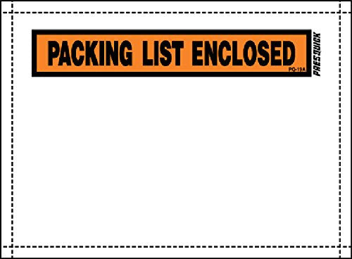 "Pres-Quick® Brand Packing List Envelopes 7.5"" X 5.5"" by LPS Industries (100)"