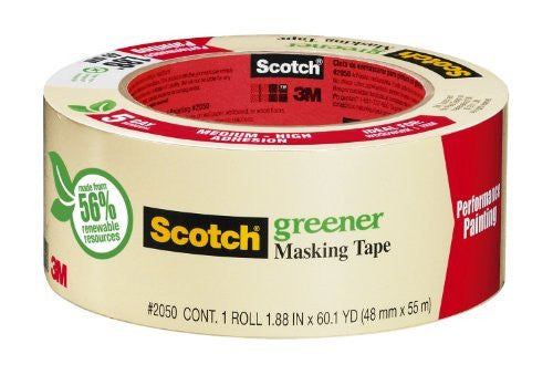 3M Scotch Greener Masking Tape for Performance Painting, 2.82-Inch by 60-Yard Size: 2.82-Inch by 60-Yard, Model: 2050-3A