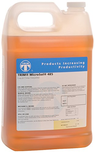TRIM Cutting & Grinding Fluids MS485/1 MicroSol 485 Long Life Ferrous Semisynthetic Microemulsion Coolant, 1 gal Jug