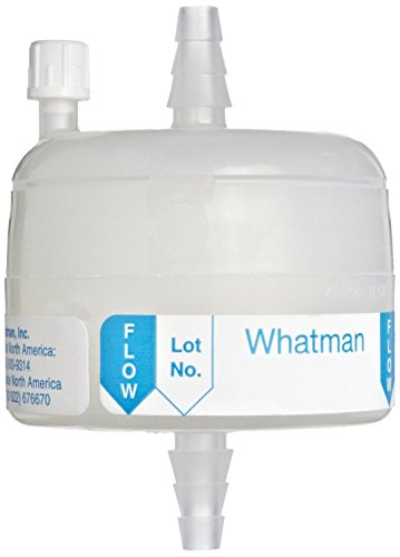 Whatman 6715-3682 Polycap TC 36 Polyethersulfone Membrane Capsule Filter with SB Inlet and Outlet Plus Filling Bell, 60 psi Maximum Pressure, 0.8/0.2 Micron