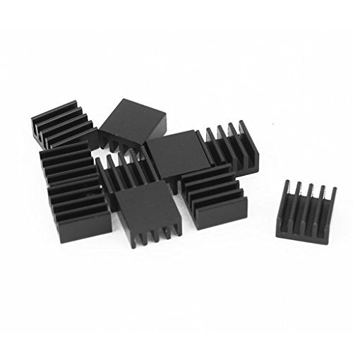 10pcs Black Heat Sink for StepStick A4988 Chip IC Thermal Adhesive 8.8*8.8*5mm