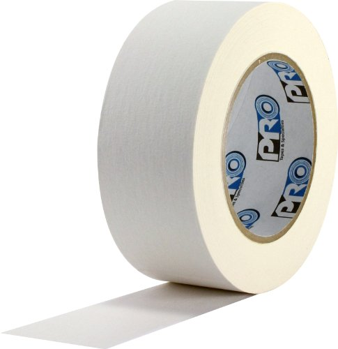 "ProTapes Colored Crepe Paper Masking Tape, 60 yds Length x 1/2"" Width, White (Pack of 72)"