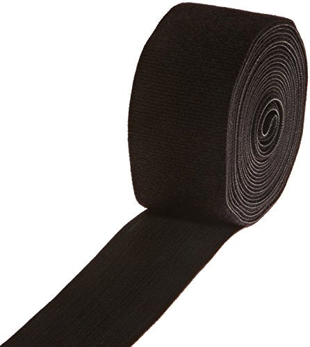 "VELCRO 1806-OW-PB/B Black Nylon Onewrap Strap, Hook and Loop, 2"" Wide, 15' Length"