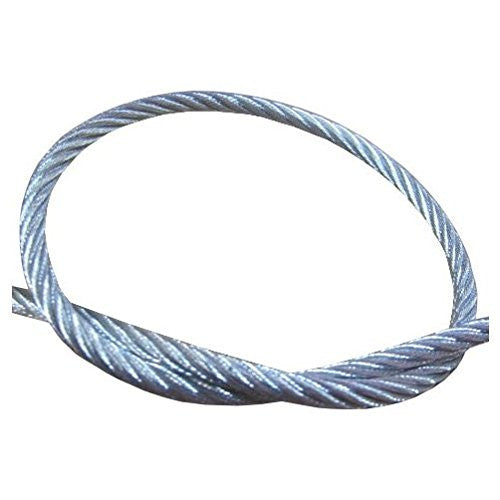 "1/4"" (7 X 19) Galvanized Wire Cable (Per ft.) - Safe Work Load 1,400 lbs"