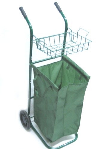 PORTABLE GARDEN ROLLING YARD CART - FOR PRUNING, CLEANUP Removable Leaf Bag NEW