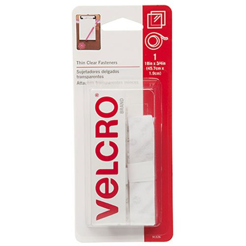 "VELCRO Brand - Sticky Back - 18"" x 3/4"" Tape - Clear"