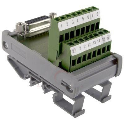 Altech 5746.2 , Interface Module, D-Sub, Screw-Cage, 15, 22-12 AWG, 4A, 250VAC, Female