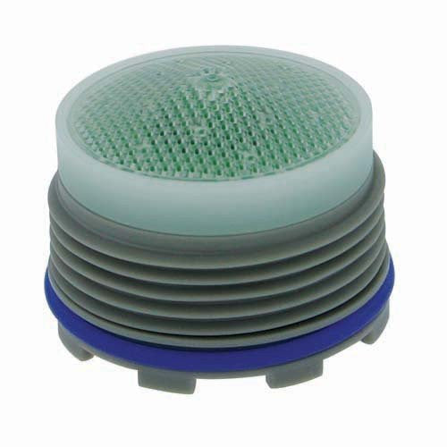 "Neoperl 13 0320 5 Economy Flow PCA Cache Perlator HC Aerator, Tiny Junior Size, 1.5 GPM, Green/Clear Dome, Honeycomb Screen, Laminar Stream, M18.5 x 1 Threads, Plastic, 0.561"" Height"