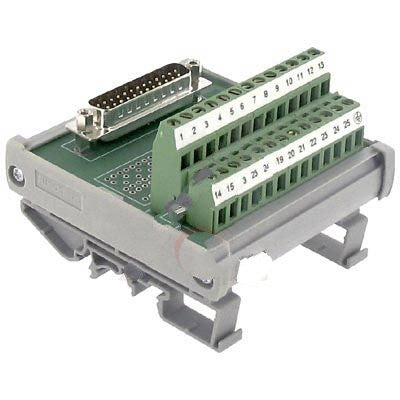 Altech 5742.2 , Interface Module, D-Sub, Screw-Cage, 25, 22-12 AWG, 4A, 250VAC, Male