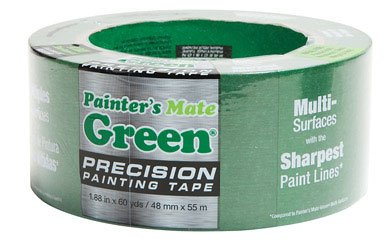 "Precision 1366491 Multi Surfaces Painting Tape, 60 yds Length x 1.88"" Width, Green"
