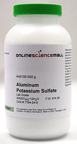 500g of Aluminum Potassium Sulfate Crystals, Dodecahydrate - Lab Grade Reagent