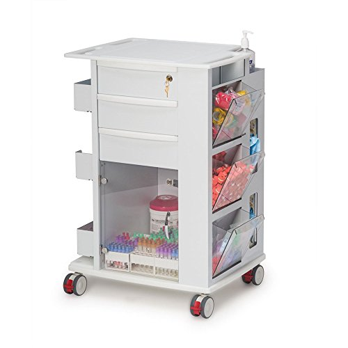 "Phlebotomy Supply Storage Cart, 5"" Casters"