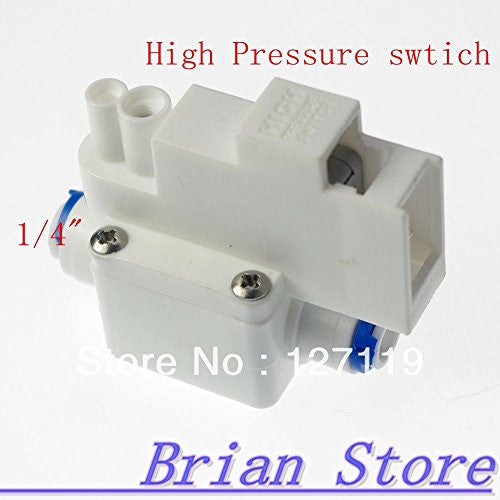 "1/4"" hose connection High Pressure Switch RO Water Reverse Osmosis Aquarium Drinking Water Purification"