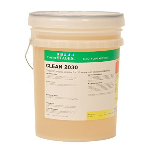 Master STAGES CLEAN2030/5 Clean 2030 Cleaner/Corrosion Inhibitor for Ultrasonic and Immersion Washers, Yellow, 5 gal Jug