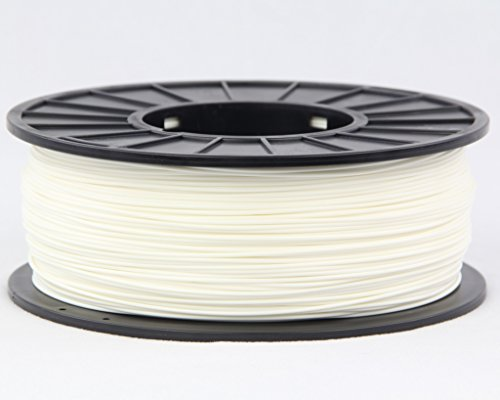 3DMakerWorld Plastic Filament - ABS (PA-747) 1.75mm White 1Kg Spool, Made in the USA