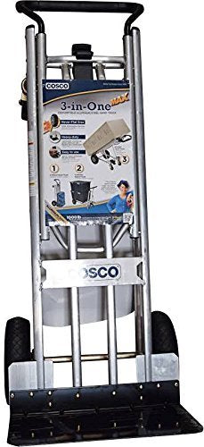 Cosco 3-in-1 Aluminum Hand Truck/Assisted Hand Truck/Cart w/ flat free wheels (Loop Handle)